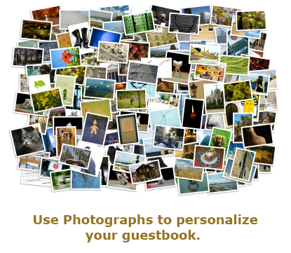 Photographs for guestbook